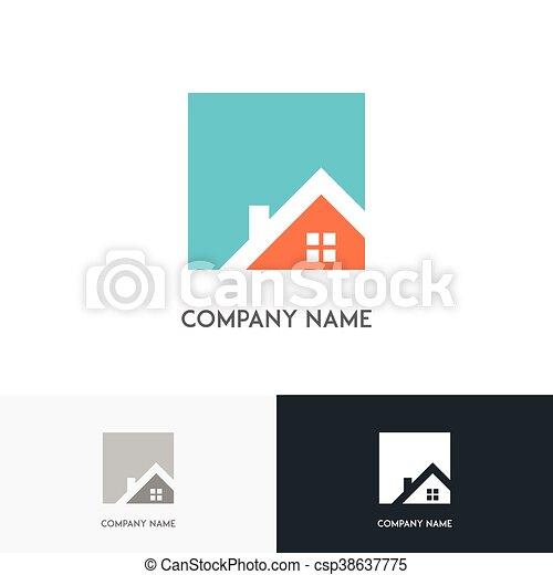 Real estate logo - csp38637775