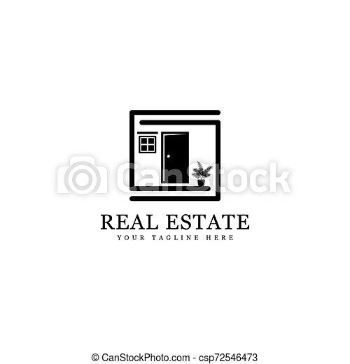 real estate logo - csp72546473