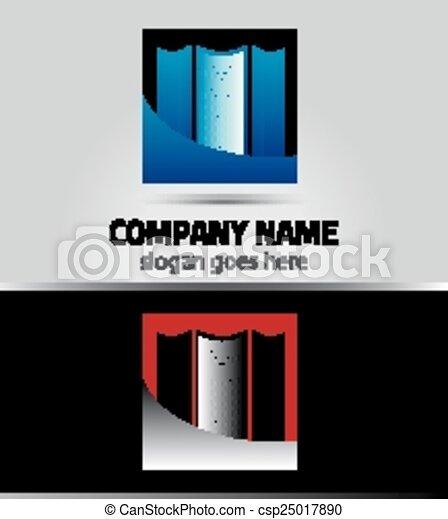 Real estate logo template - csp25017890
