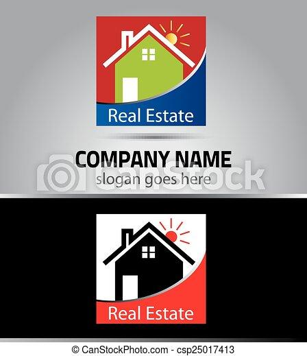 Real estate logo template - csp25017413