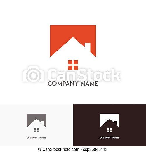 Real estate logo - csp36845413