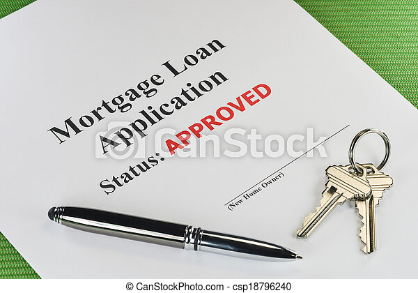 Real Estate Mortgage Approved Loan Document - csp18796240