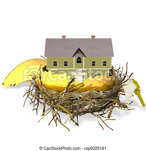 Real Estate Nest Egg - csp0225191