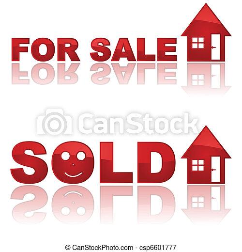 Real Estate signs - csp6601777