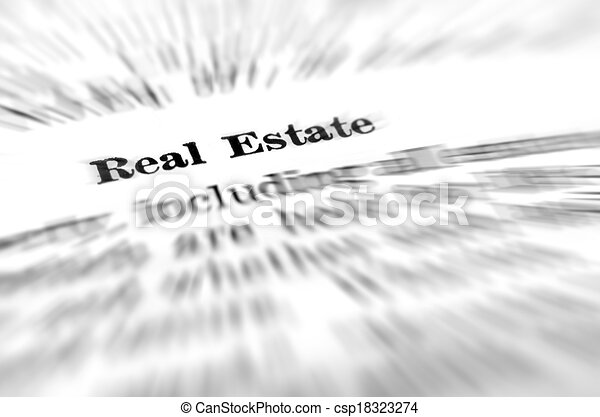 Real Estate Definition Of Real Estate On White Background