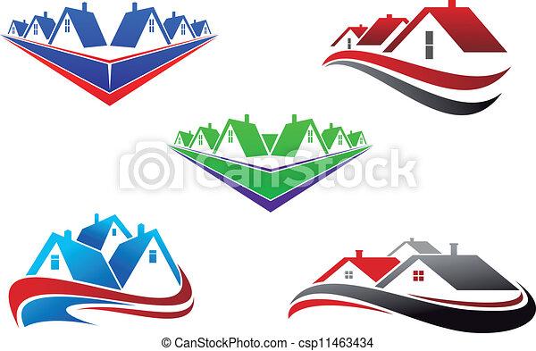 Real estate symbols - csp11463434