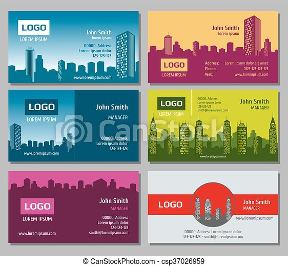 Real estate vector business card set card for business with real estate vector business card set reheart Gallery