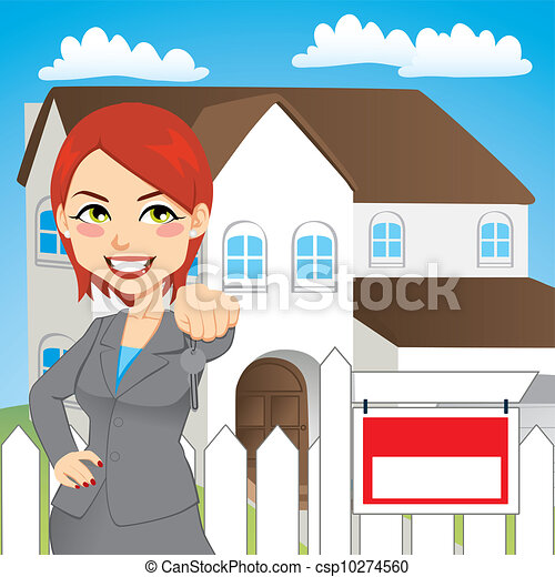 Real Estate Woman - csp10274560