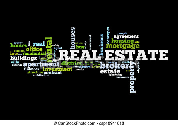 Real estate word cloud  - csp18941818