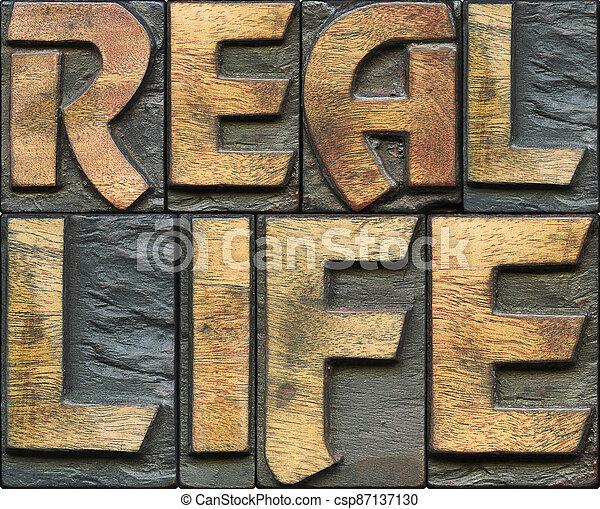 real life wooden letterpress - csp87137130