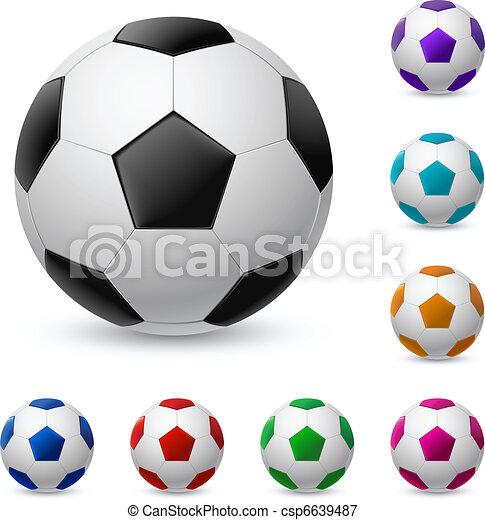 Realista, diferente, pelota, colores, futbol. Diferente, pelota ...