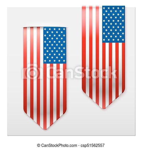 Lazos realistas de bandera americana. - csp51562557