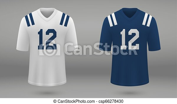 various colors 6135c 60b5f Realistic american football jersey