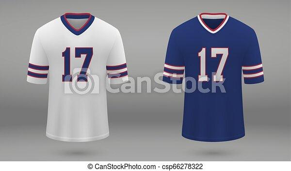 various colors 1e608 6762e Realistic american football jersey