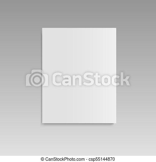 Realistic blank closed magazine mockup template. vector. Realistic ...