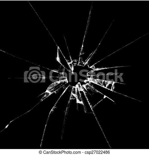 Realistic broken glass illustration - csp27022486