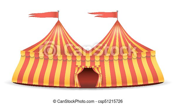 Realistic Circus Tent Vector. Red And Yellow Stripes. Cartoon Big Top Circus Tent Illustration  sc 1 st  Can Stock Photo & Realistic circus tent vector. red and yellow stripes.... vector ...