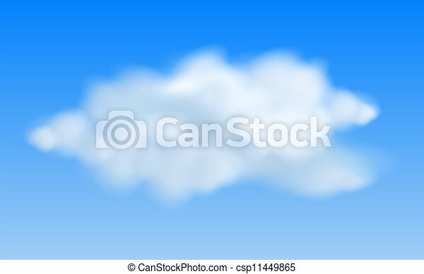 Realistic clouds in the blue sky - csp11449865