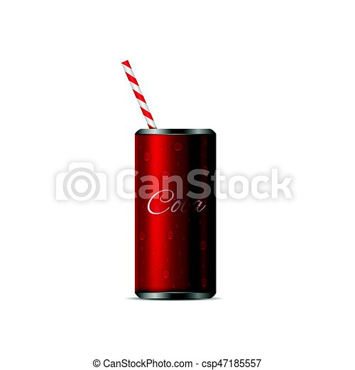 Realistic Cola Can - csp47185557