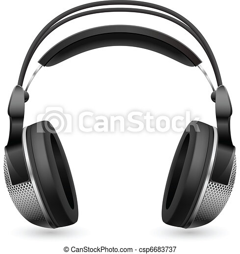 Realistic computer headset - csp6683737