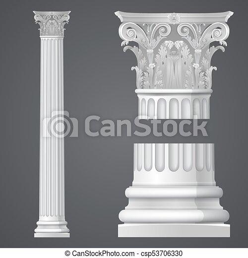 realistic corinthian column csp53706330