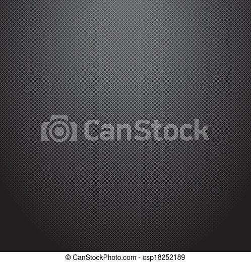 Realistic dark carbon background, texture. Vector illustration - csp18252189