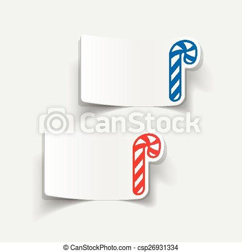 realistic design element: candy cane - csp26931334