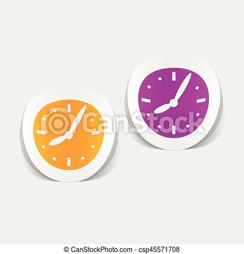 realistic design element: clock - csp45571708