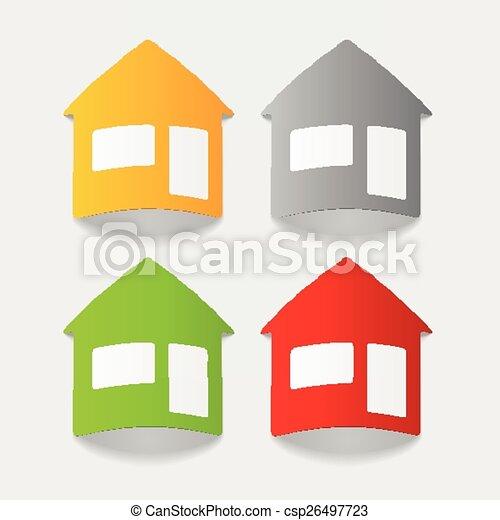 realistic design element: house - csp26497723