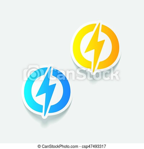 realistic design element: lightning bolt