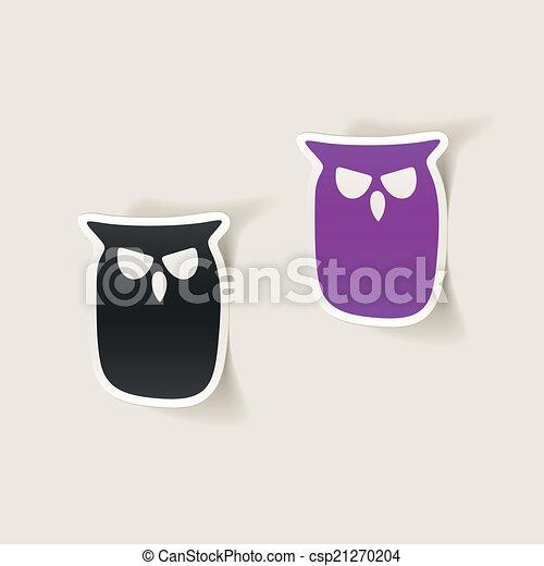 realistic design element: owl - csp21270204