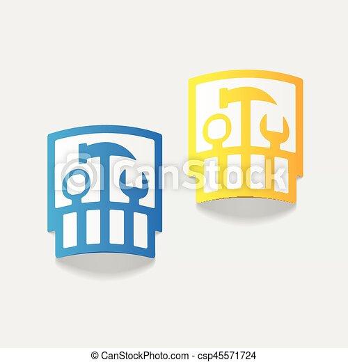 realistic design element: set of tools - csp45571724