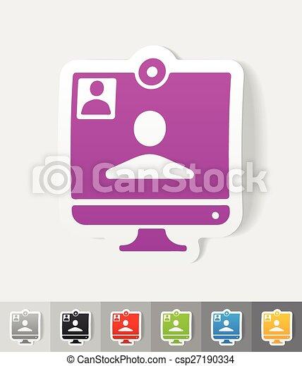 realistic design element. video call - csp27190334