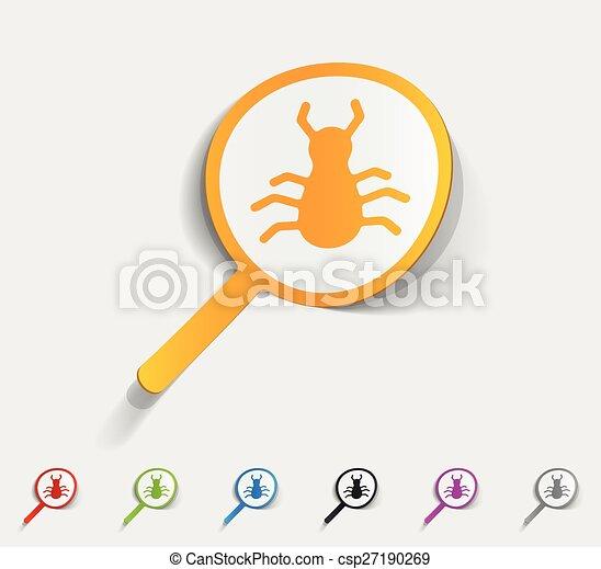 realistic design element. virus scan - csp27190269
