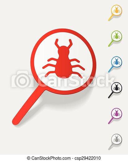 realistic design element. virus scan - csp29422010