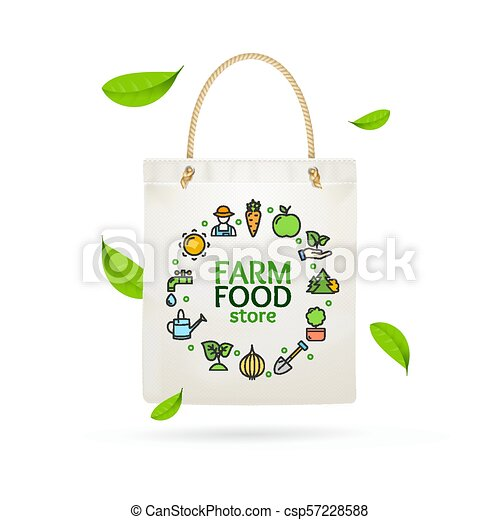 Shopping bag  Currant shopping bag  Cotton bag  Red currant  Ecological shopping bag