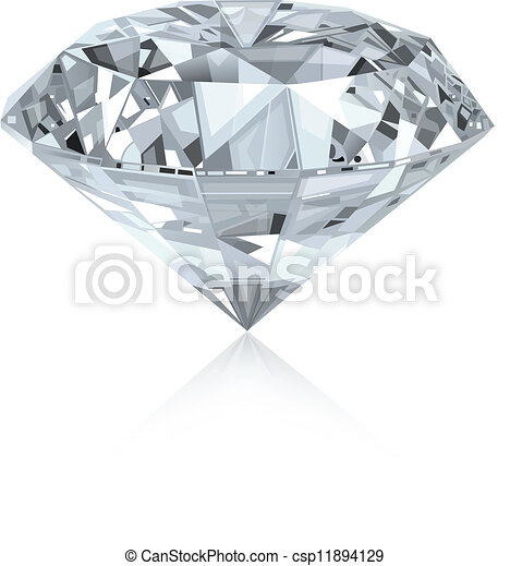 Realistic diamond - csp11894129