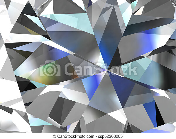 Line Drawing Diamond : Realistic diamond texture close up 3d illustration. stock