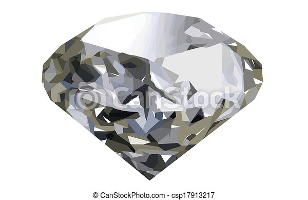realistic diamond - csp17913217