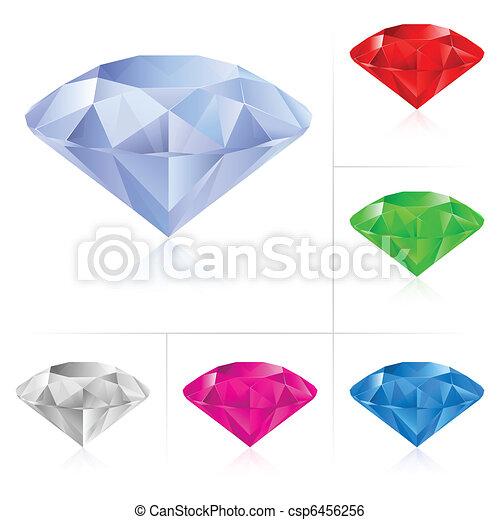 Realistic diamonds in different colors - csp6456256