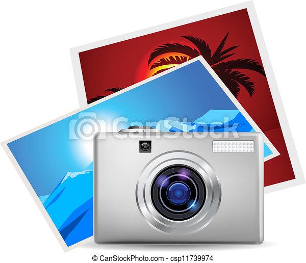 Realistic digital camera - csp11739974