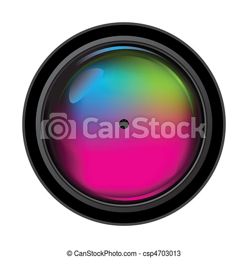 realistic digital camera lens vector illustration of the rh canstockphoto com camera lens vector black and white camera lens vector free