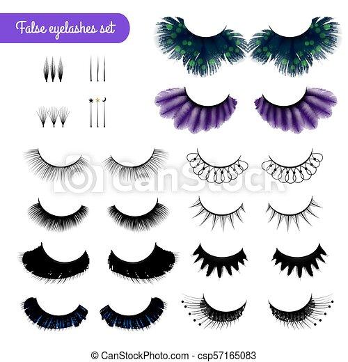 1161bf9544a Realistic false eye lashes set. Set of realistic false eye lashes of ...