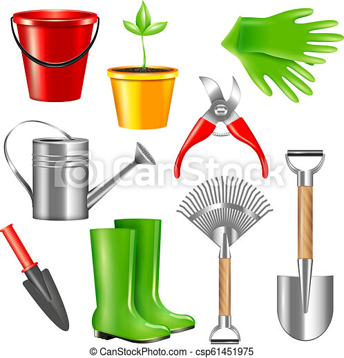 Realistic Gardening Tools Set Realistic Gardening Tool Set With
