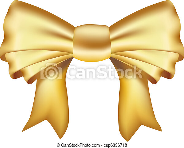 realistic golden ribbon - csp6336718