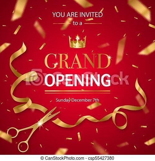 Realistic Grand Opening Invitation Pattern