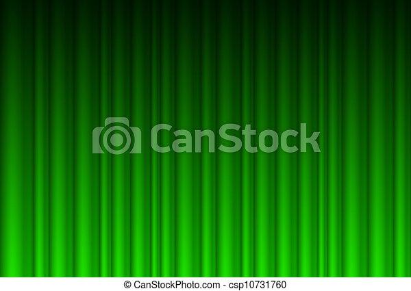 Realistic green curtain - csp10731760
