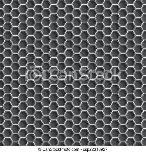 Realistic hexagonal grid backgroun - csp22318927