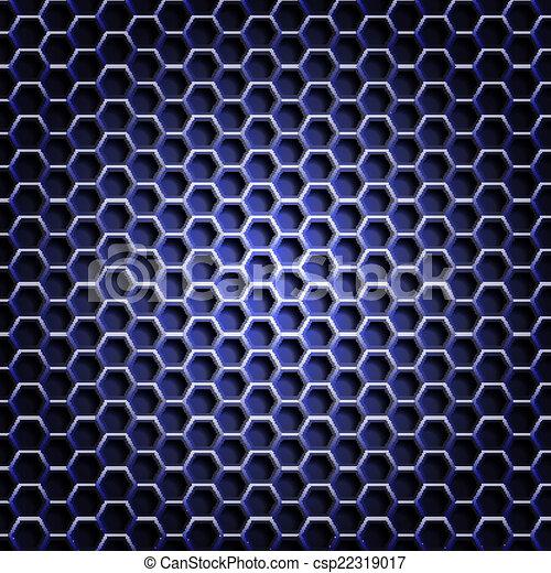 Realistic hexagonal grid backgroun - csp22319017