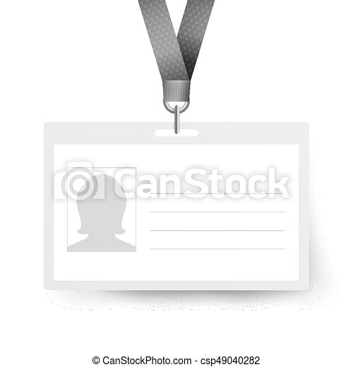 Realistic identification card vector template. name tag.... vector ...